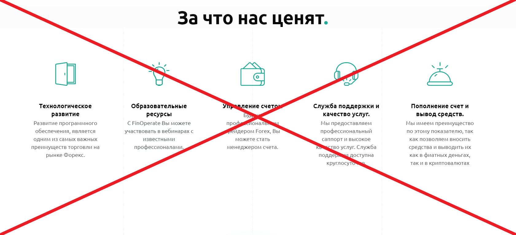 FinOperate - отзывы. Обман finoperate.com