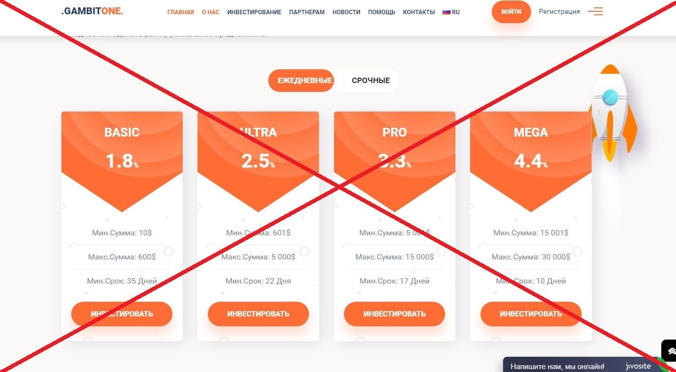 Gambit One - реальные отзывы о gambit-one.com