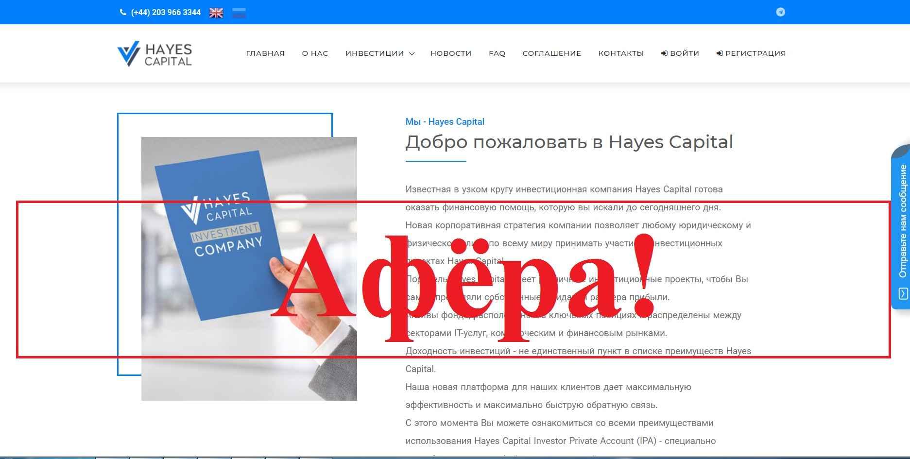 Hayes Capital – отзывы и обзор hayes.capital