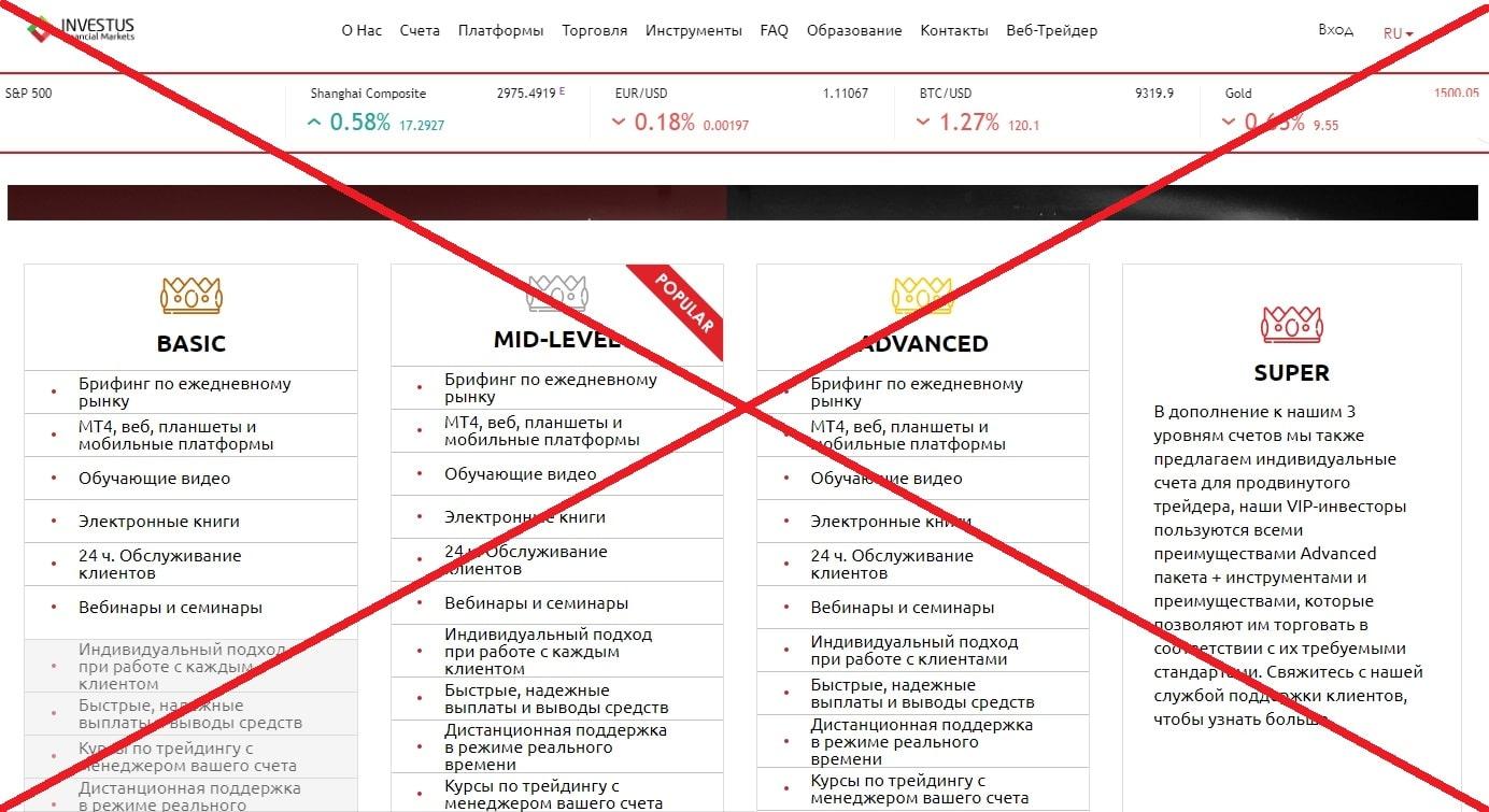 Брокер Investus - реальные отзывы о investus.fm