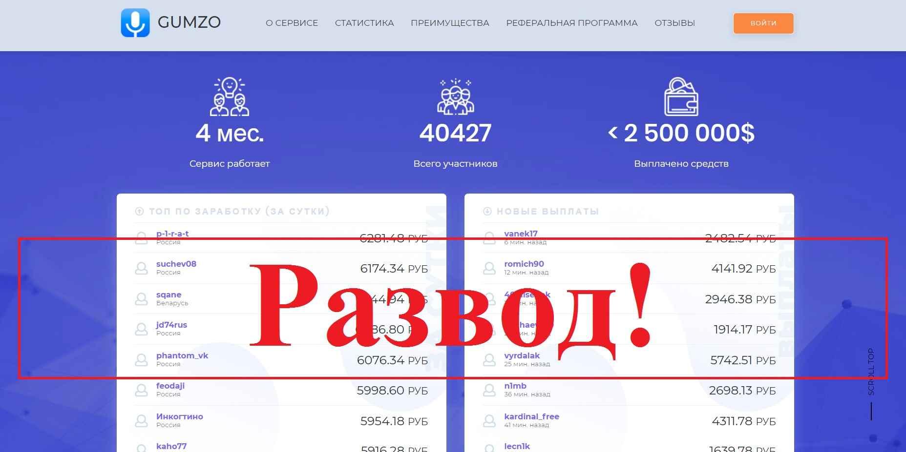 Gumzo – заработок в интернете. Отзывы о gumzo.ru