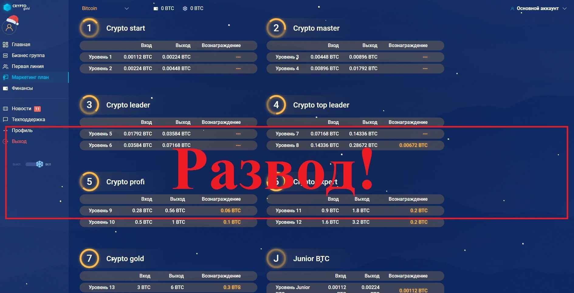 CryptoGold – источник дохода. Отзывы о проекте cryptogold.bz