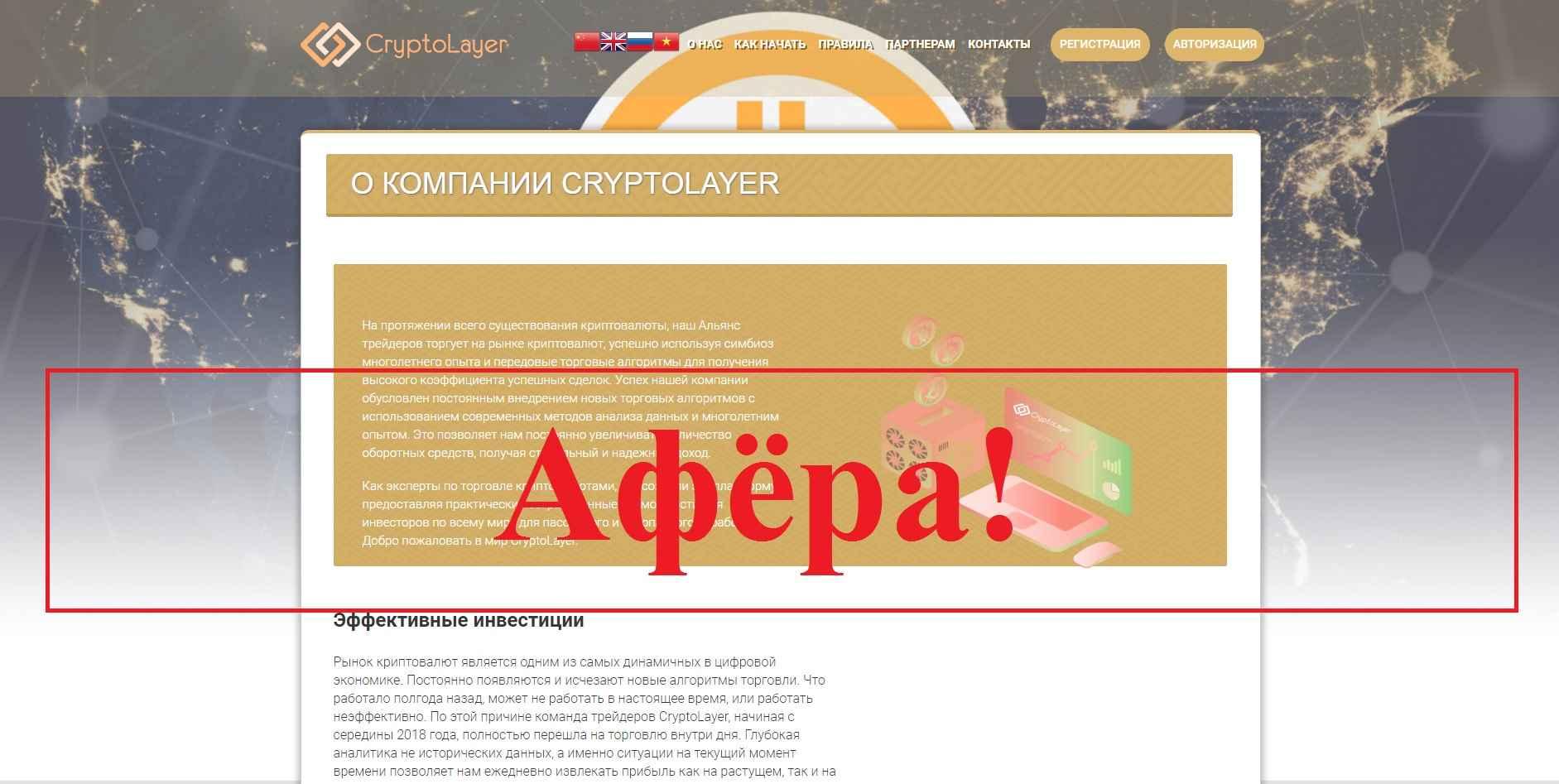 CryptoLayer – инвестиционный проект. Обман?