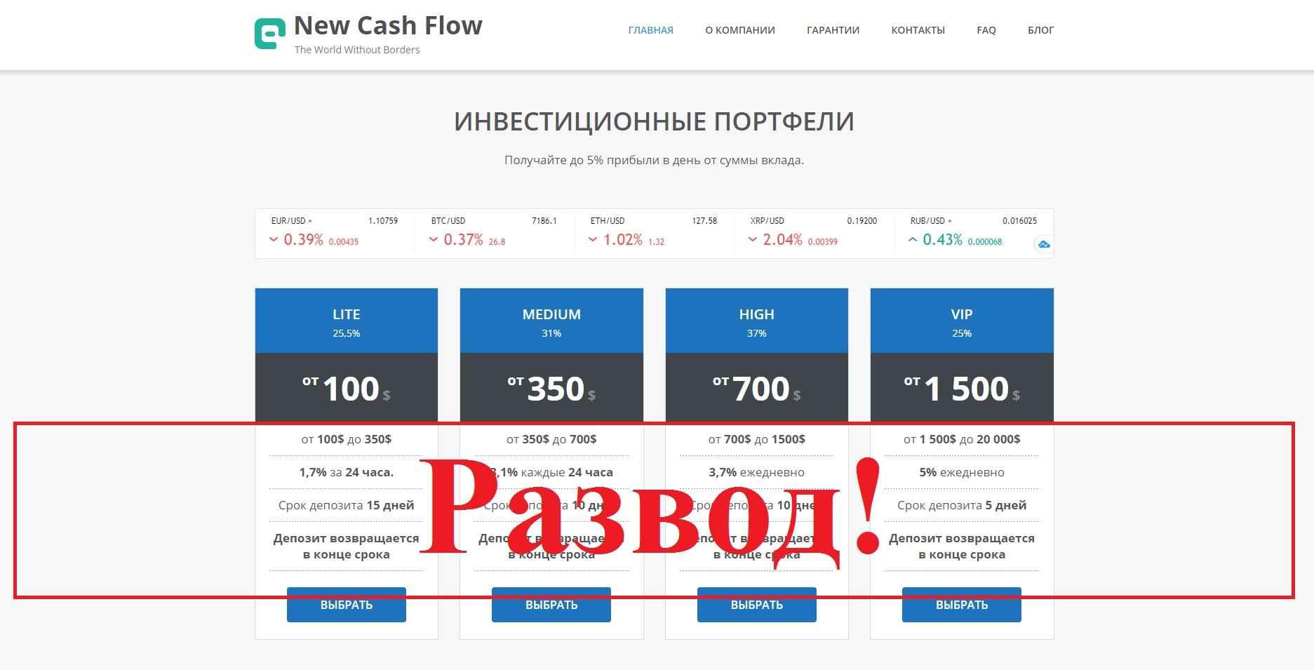 New Cash Flow – реальные отзывы о ncfcompany.com