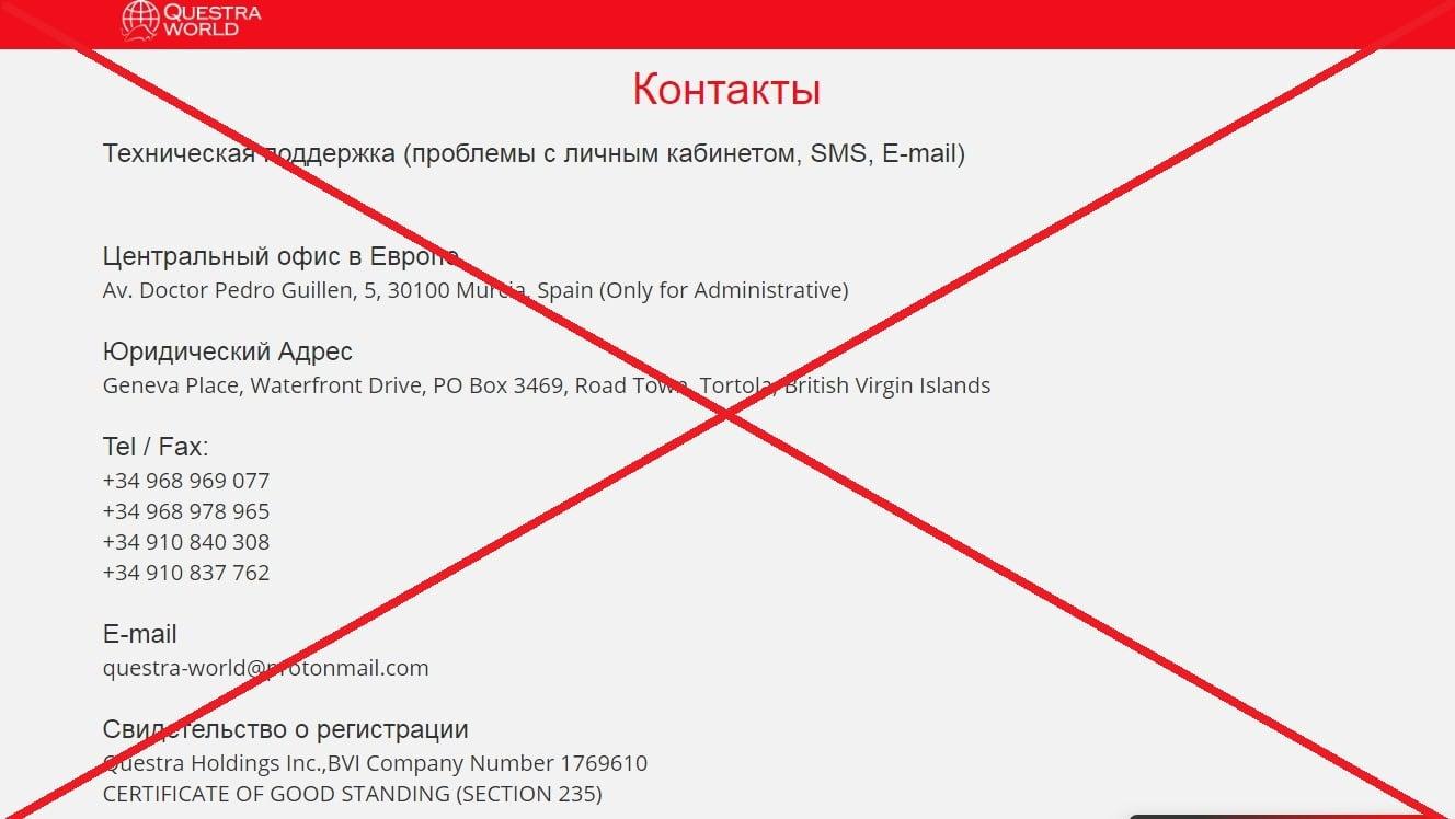Questra World (questra-world.ru): возрождение конторы