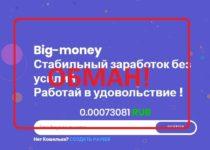 Реальные отзывы о Big Money — заработать без капитала