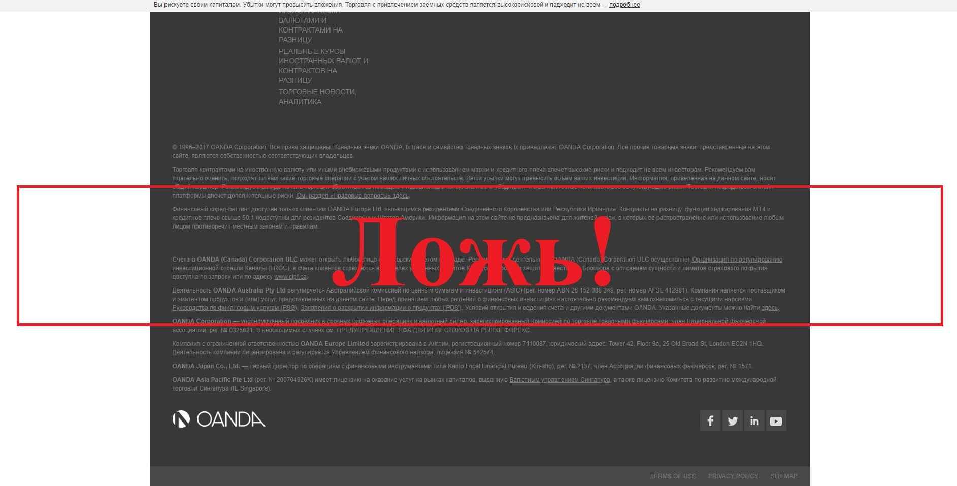 Oanda – реальные отзывы о брокере oanda.com