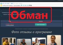 Программа для заработка в интернете — отзыв и обзор лохотрона