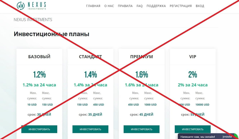 NEXUS INVESTMENTS - инвестиции в криптовалюту. Реальные отзывы о nexus-investments.pro