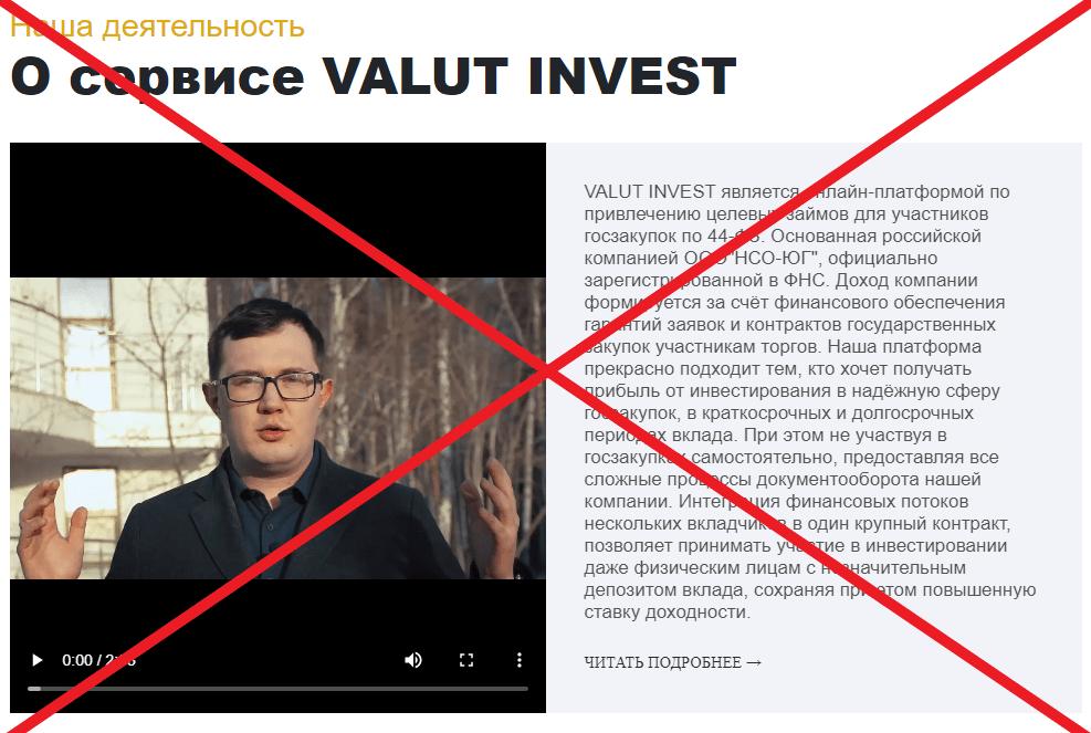 Valut Invest - инвестиционная платформа. Отзывы о valutinvest.com