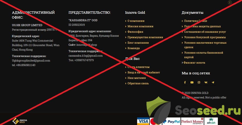 Innova Gold - честный брокер? Отзывы о innova.gold 2020