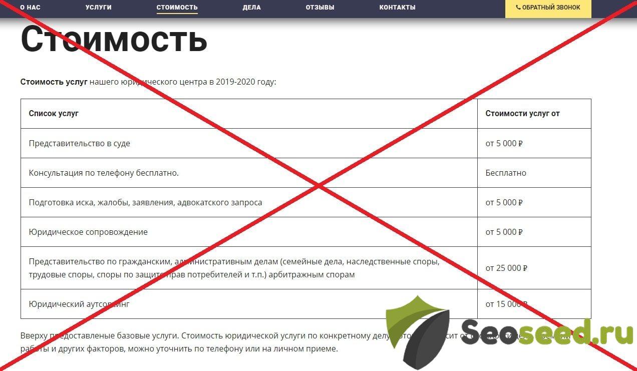 Институт Права (institute-law.ru) - отзывы. Юридическая компания мошенник