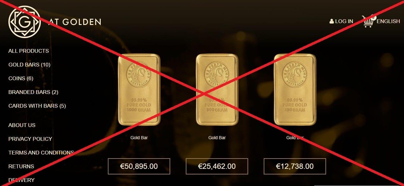 AT Golden (atgolden.com) - реальные отзывы. Продажа Арабского золота