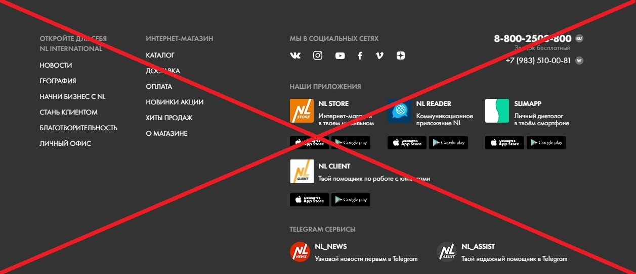 NL international - отзывы о компании. Развод?