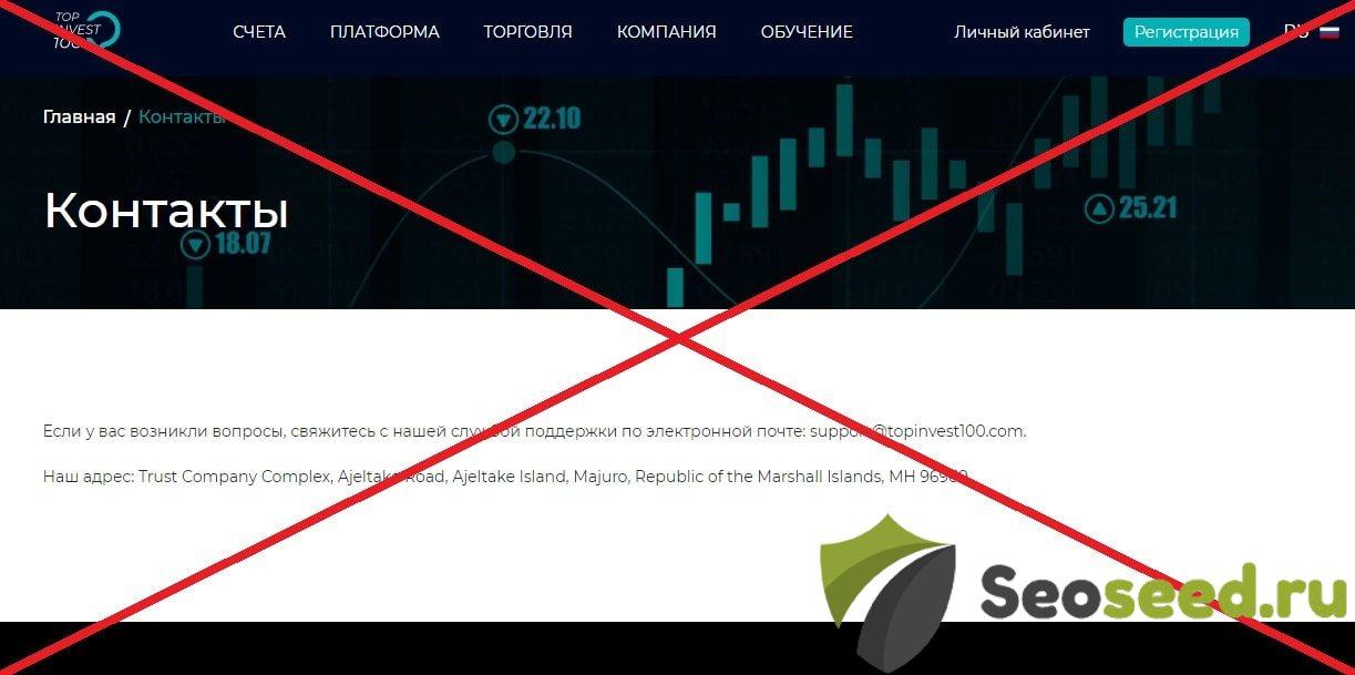 🔥Top Invest 100 (topinvest100.com) - какие отзывы? Обзор брокера Топ Инвест 100