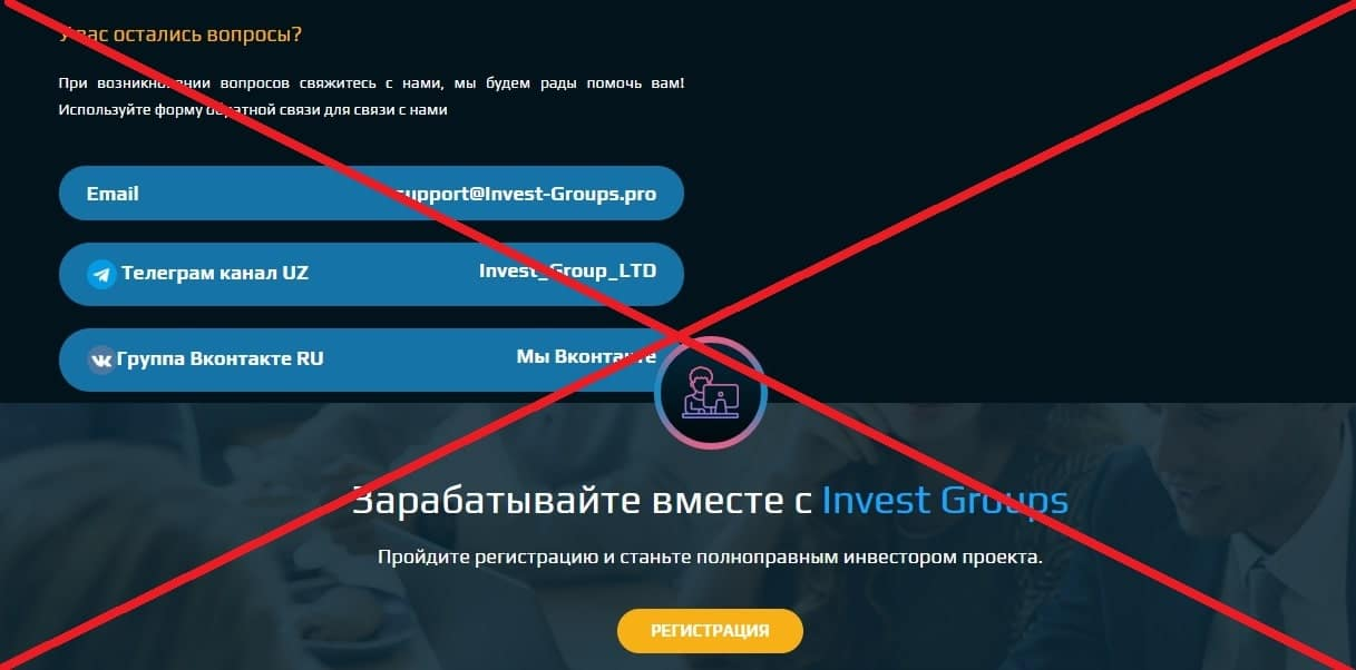 Invest Groups - реальные отзывы и обзор invest-groups.pro