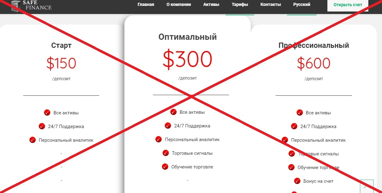 Трейдинг с Safe Finance - отзывы о safefinance.info