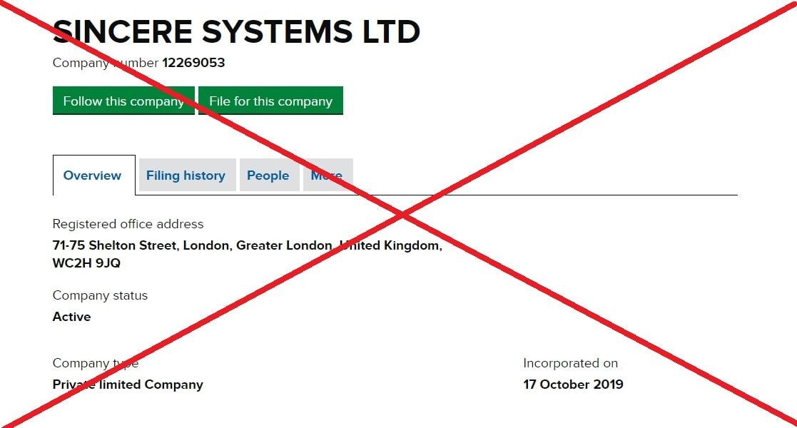 sincere.systems лохотрон