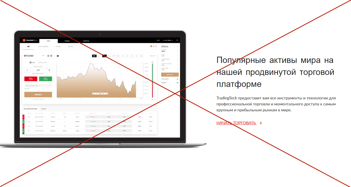 TradingTeck (tradingteck.com) - отзывы. Биржевые операции
