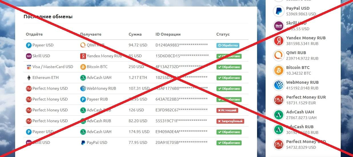 Sky-change.com - отзывы и обзор. Обменник мошенников