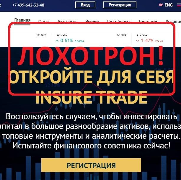 Брокер Insure Trade — отзывы и проверка insure-trade.io