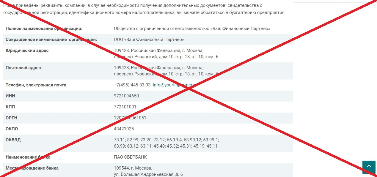 Ваш Финансовый Партнер (yourfinpartner.ru) - отзывы и обзор компании