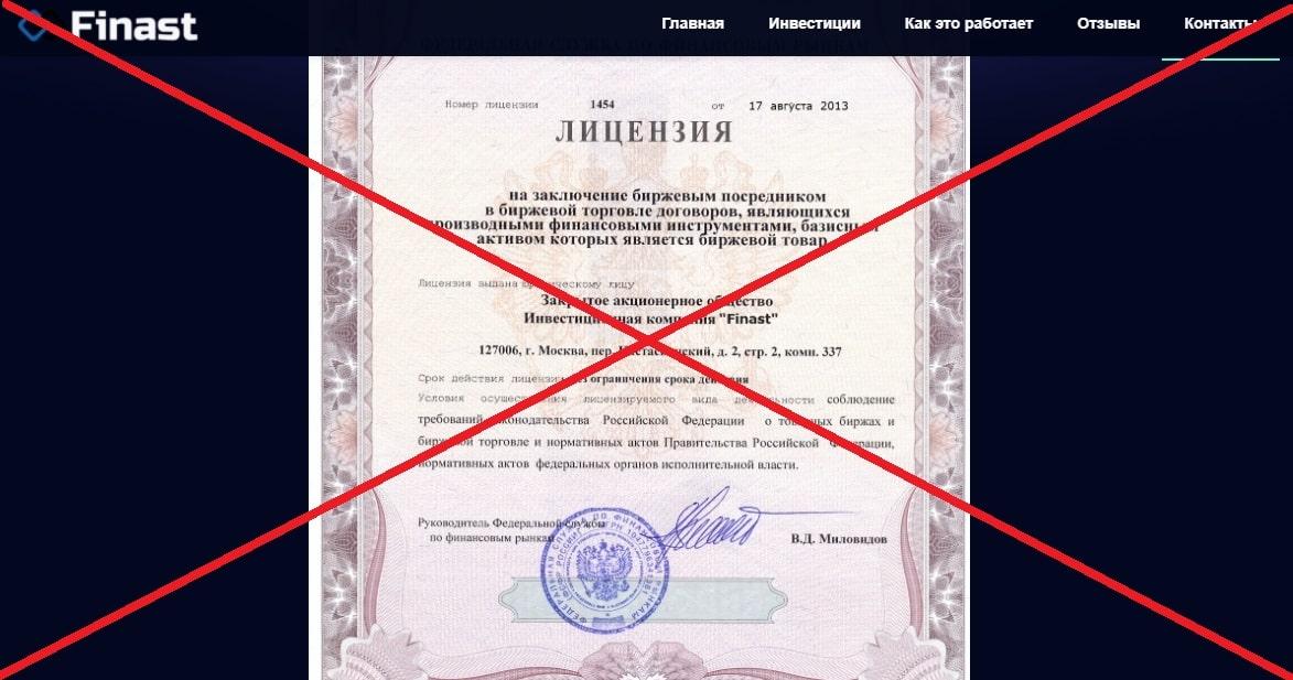 Finast - плохие инвестиции. Отзывы о finast.ru