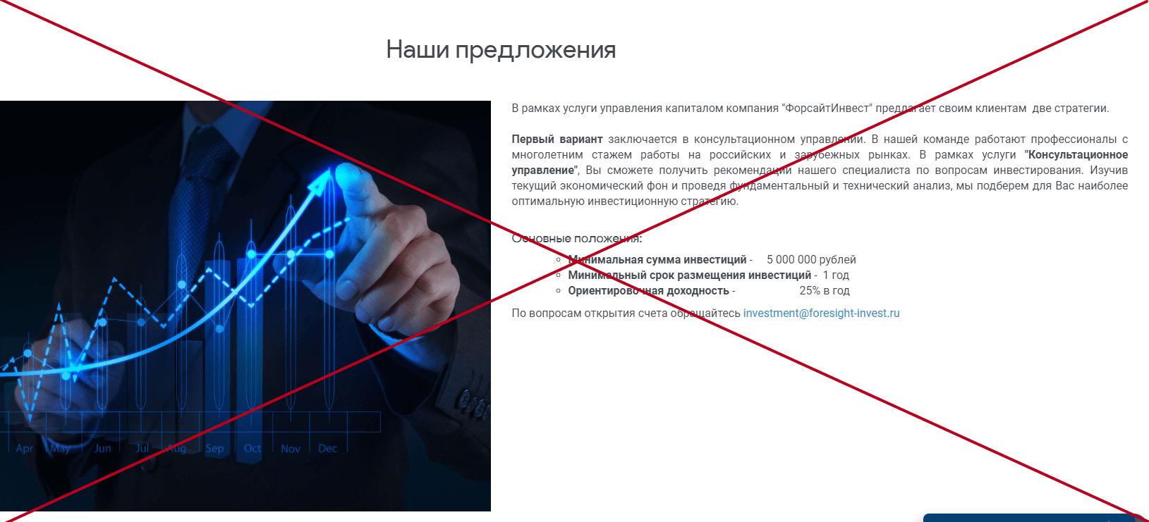 Форсайт Инвест (foresight-invest.ru) - отзывы. Честные инвестиции?