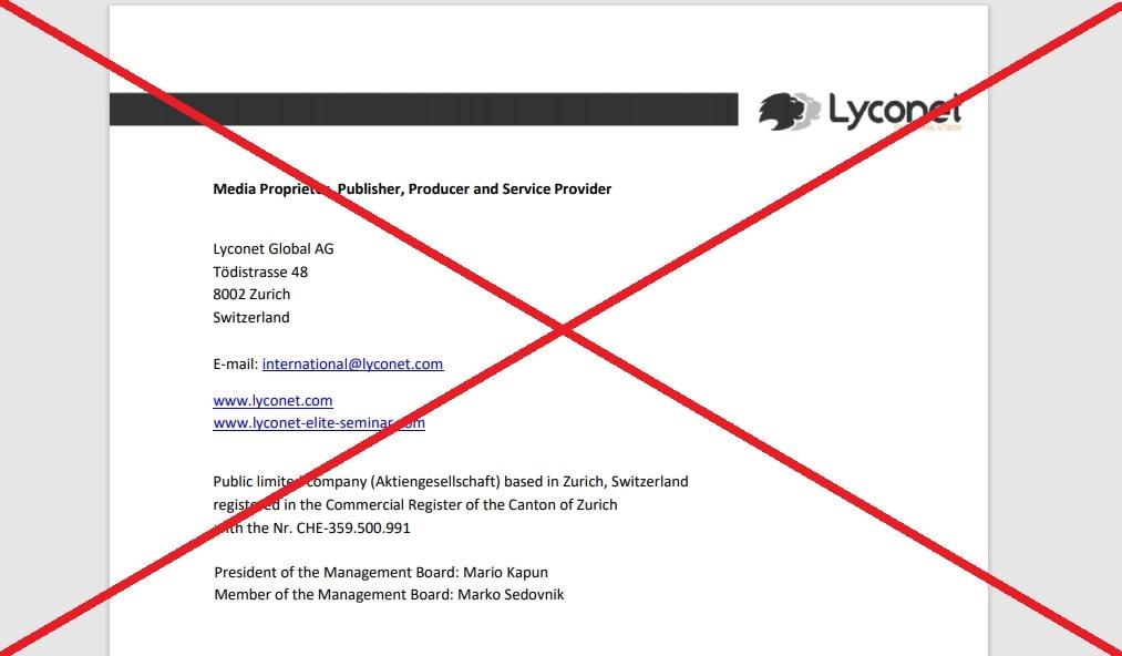 Компания Lyconet (lyconet.com) - отзывы и маркетинг. Развод?