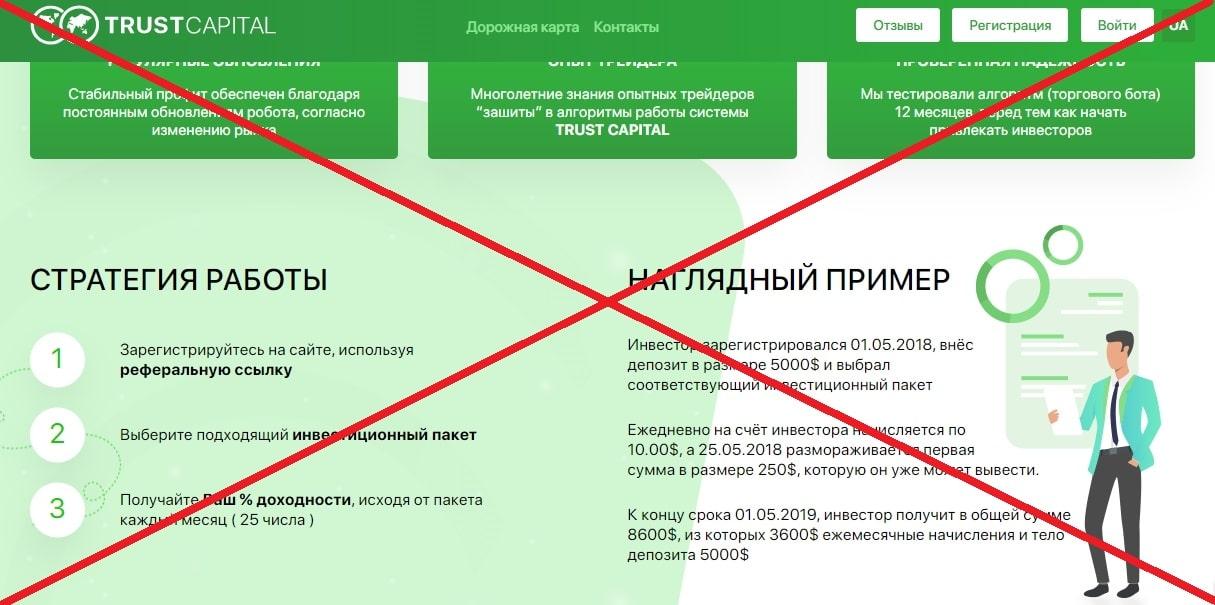 Trust Capital (trust-capital.group) - отзывы и обзор