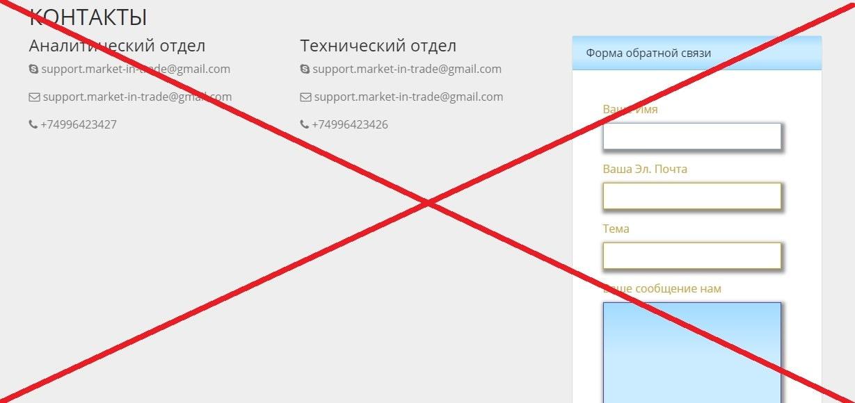 Market IN Trade - отзывы о брокере market-in.trade