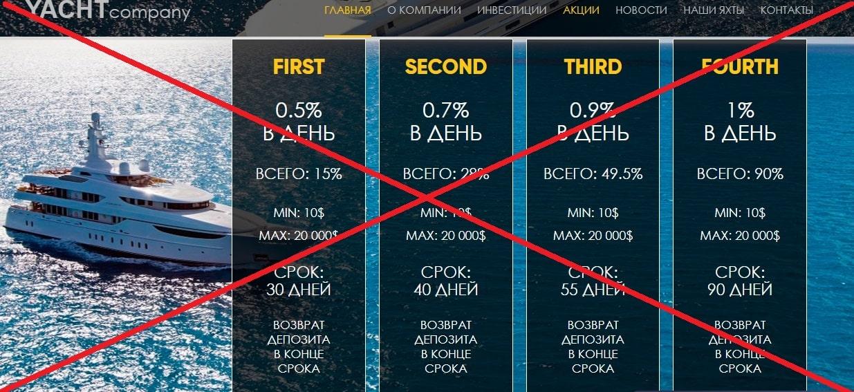 YACHTcompany (yacht-company.com) - отзывы и обзор. Развод?