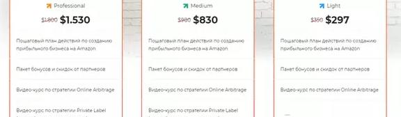Цены на курс Максима Авдеева Amazon