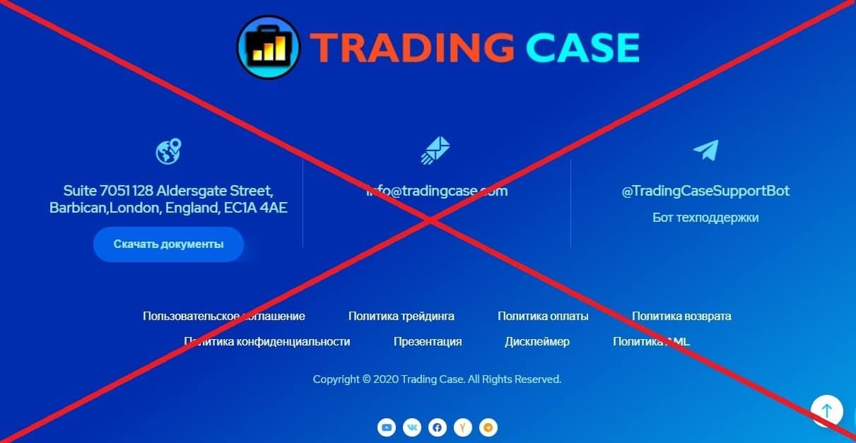 Проект Trading Case контакты