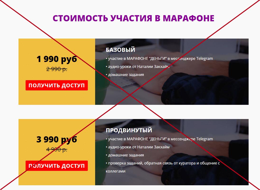 Курсы Наталии Закхайм