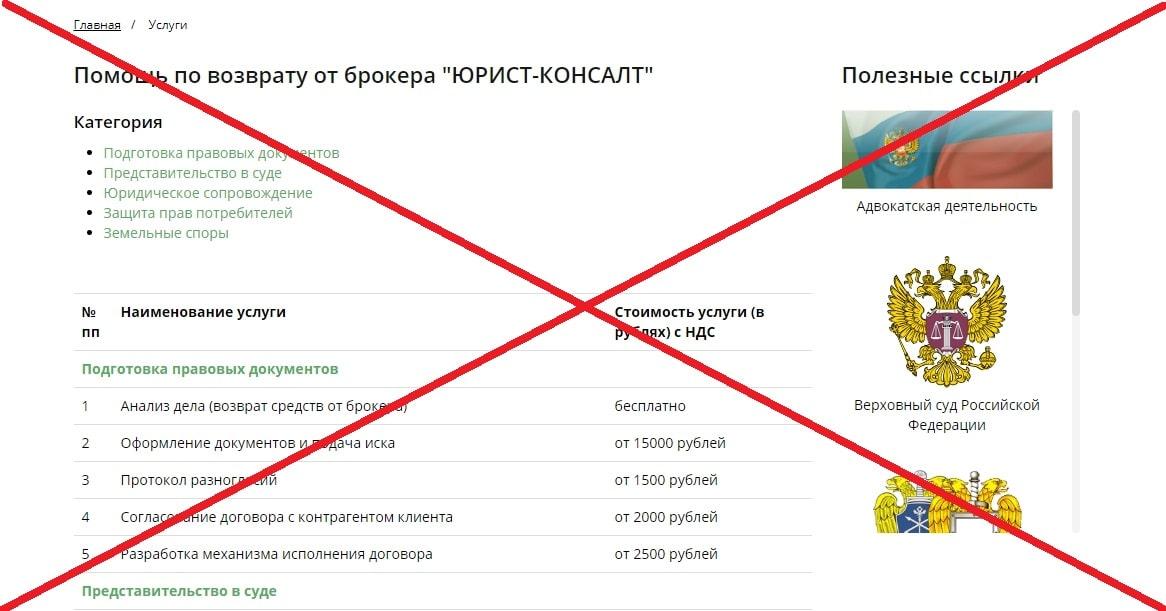 ООО ЮРИСТ КОНСАЛТ - обзор и проверка oazo.ru