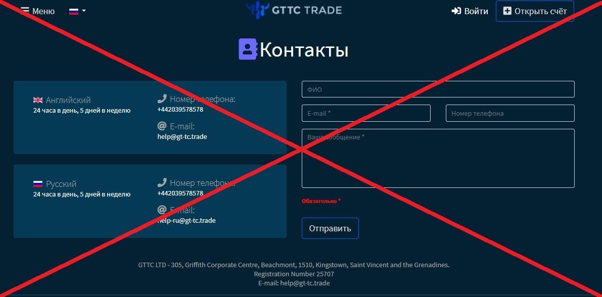 GTTC Trade контакты