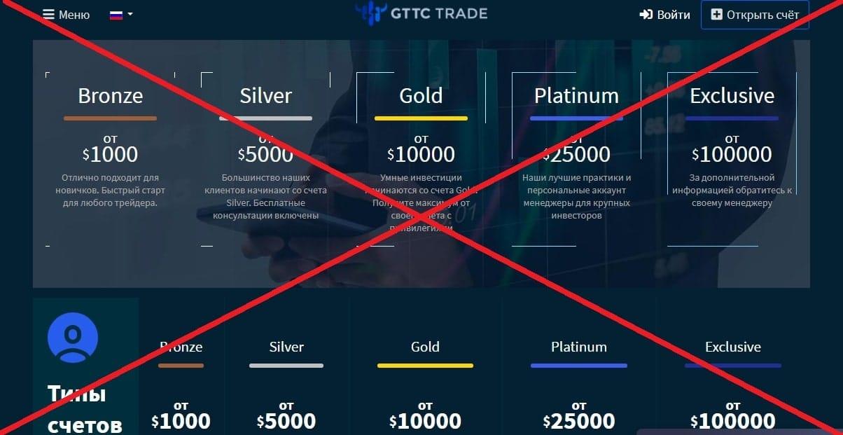 Брокер GTTC Trade обман