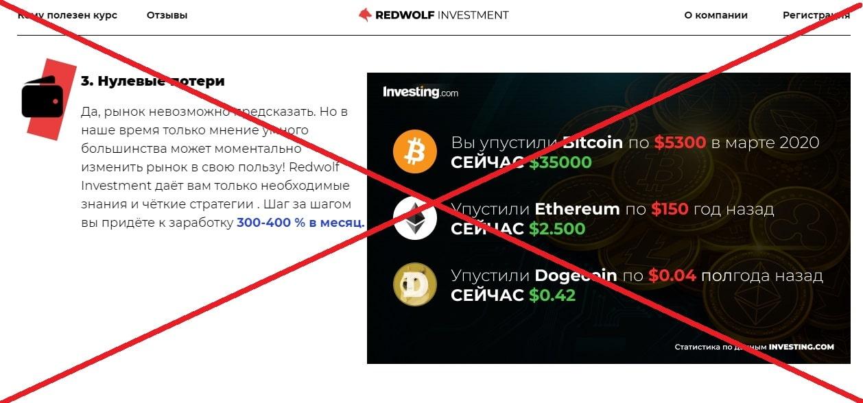 Redwolf Investment отзывы