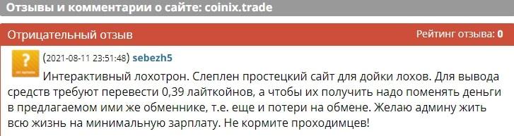 Coinix Trade отзывы